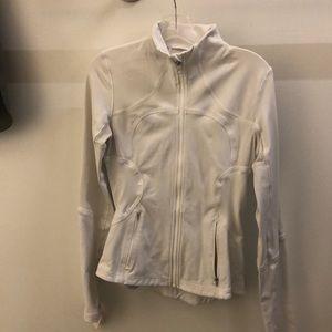 lululemon athletica Jackets & Coats - Lululemon white zip up forme jacket sz 6 68843